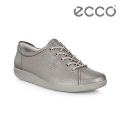 ECCO SOFT 2.0 經典輕盈皮革休閒鞋 女-霧金色