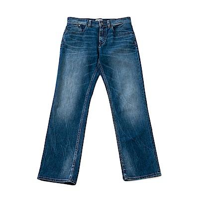 Timberland 男款老舊黑色彈性直筒牛仔長褲/短褲 | A1NOPN68