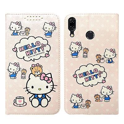 三麗鷗授權 Kitty貓 ASUS Zenfone 5Z 粉嫩系列彩繪磁力皮套(...