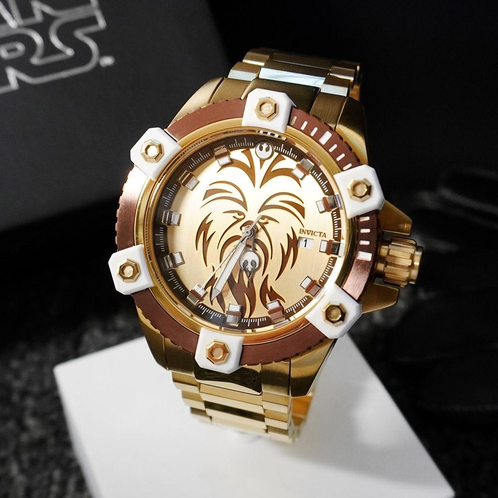 INVICTA 英威塔 Star Wars 星際大戰限定版 (秋巴卡)-電鍍金-機械錶