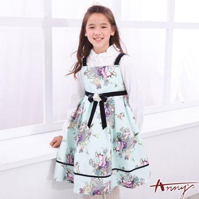 Annys高級訂製圖騰壓紋立體摺玫瑰洋裝*6216綠