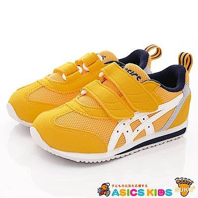 亞瑟士SUKU2機能鞋 經典護足款 MON86-800黃(中小童段)