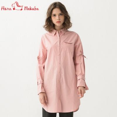 Hana-Mokuba-花木馬日系女裝氣質襯衫_米白/中粉