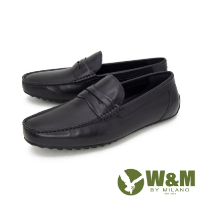 W&M(男) 經典皮飾內增高莫卡辛 樂福鞋 開車鞋 男鞋 -黑(另有棕)
