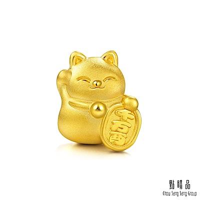 點睛品 Charme 招財貓 轉運黃金串珠