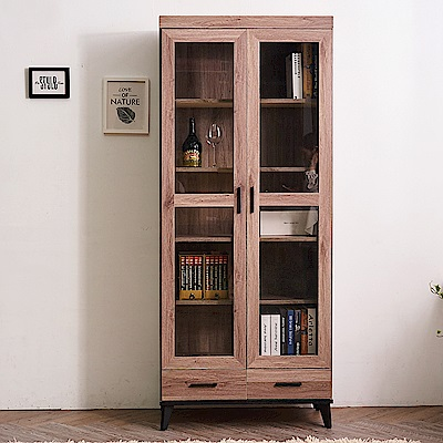 時尚屋 克里斯2.7尺下抽書櫥  寬80.8x深39.8x高194.5cm