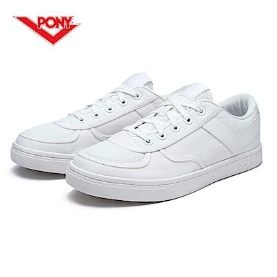 【PONY】Slam Dunk 個性風格滑板鞋款-女-白