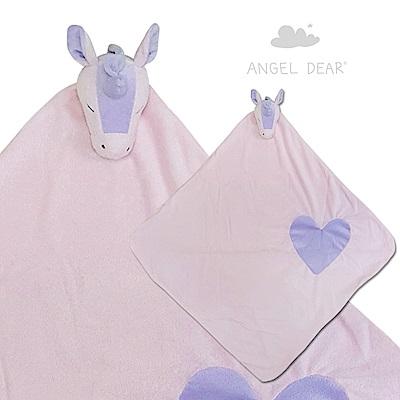 美國 Angel Dear 大頭動物嬰兒毛毯 (愛心獨角獸)