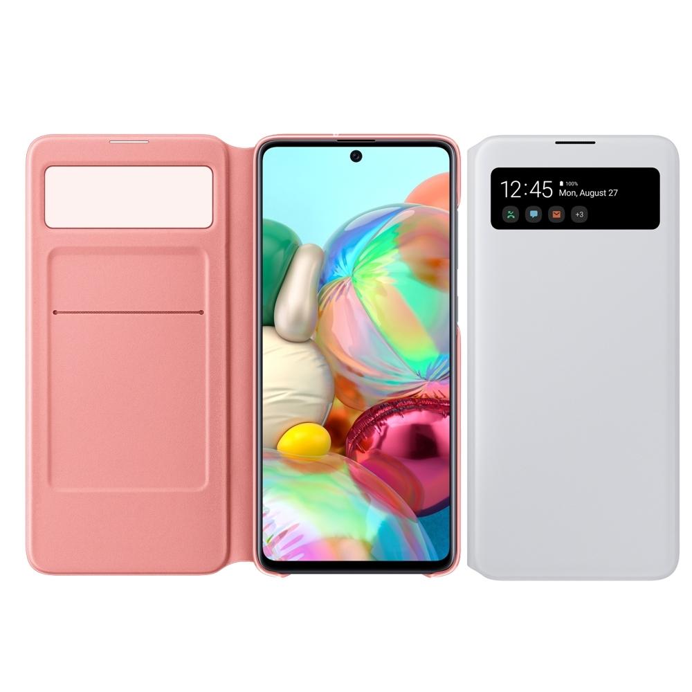 SAMSUNG  Galaxy A71 原廠透視皮套【白】