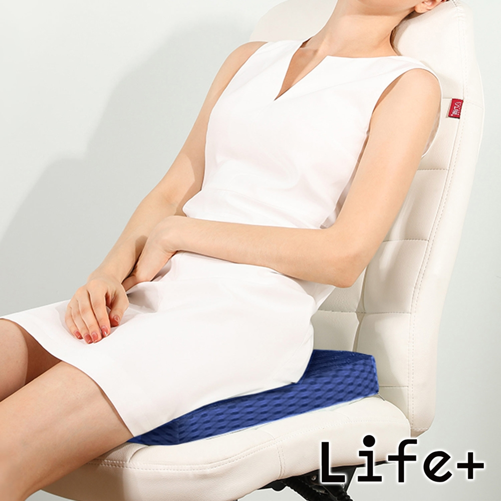Life+ 超透氣涼感4D空氣纖維坐墊(曜石藍)