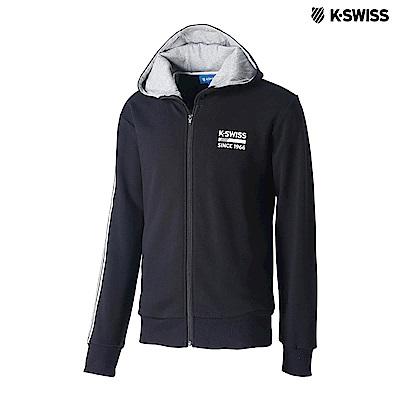 K-SWISS High Front Hoodie JKT連帽外套-女-黑