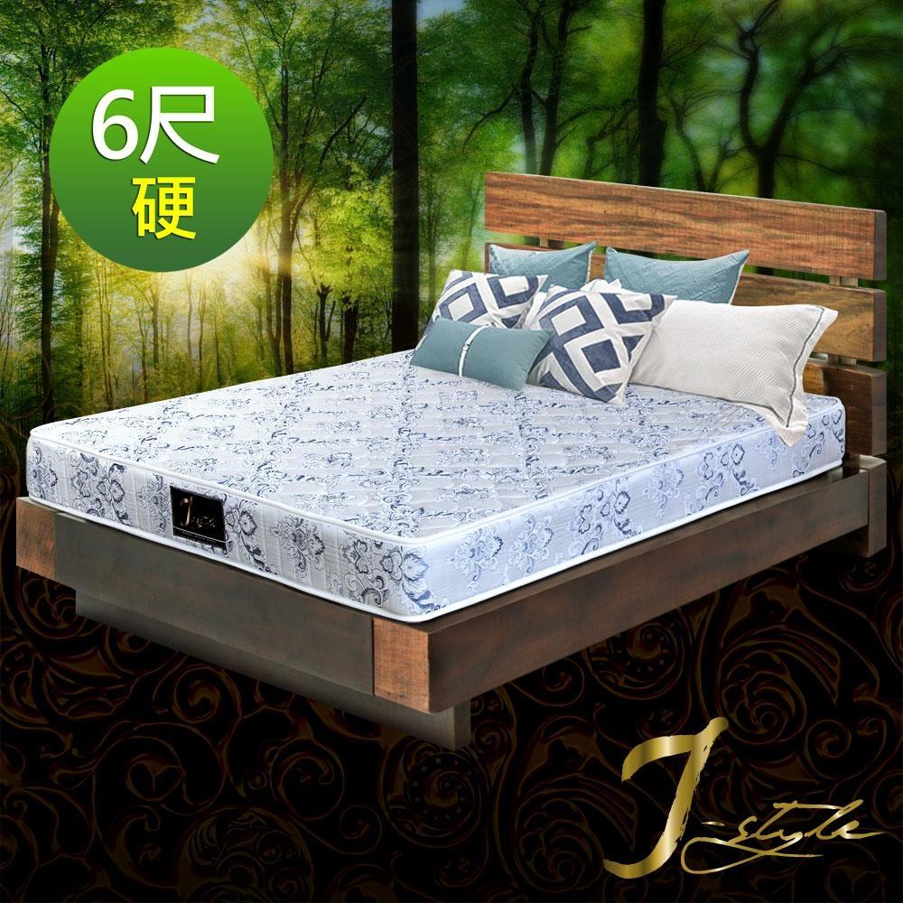 J-style婕絲黛 二線硬床系列-冬夏兩用彈簧床墊雙人加大6x6.2尺 @ Y!購物