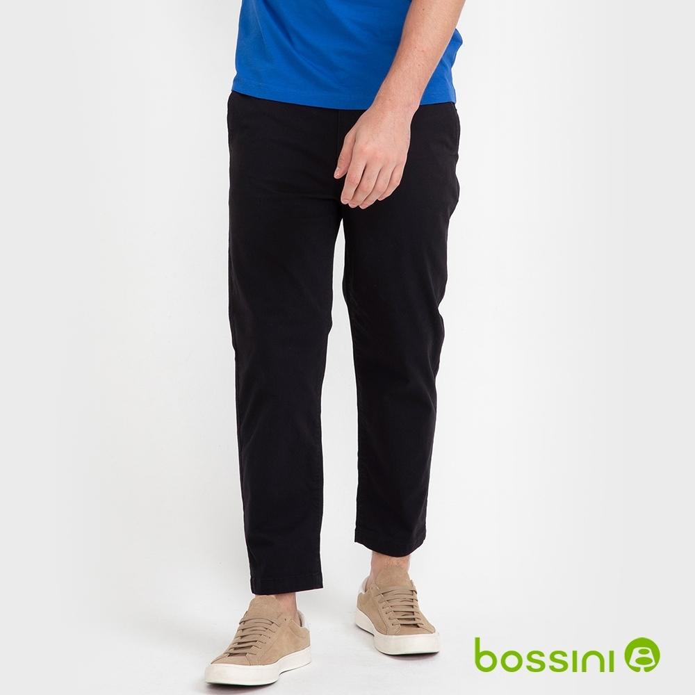 bossini男裝-彈性九分褲01黑