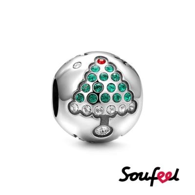 SOUFEEL索菲爾 925純銀手鍊珠飾 聖誕樹 串珠