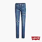 Levis 女款 711中腰緊身窄管牛仔長褲 亞洲版型 及踝破壞款 彈性布料