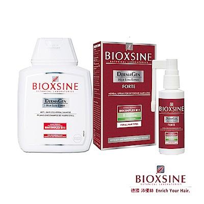 德國BIOXSINE 沛優絲 基礎洗髮八倍強效養髮組 (洗髮精+養髮液)