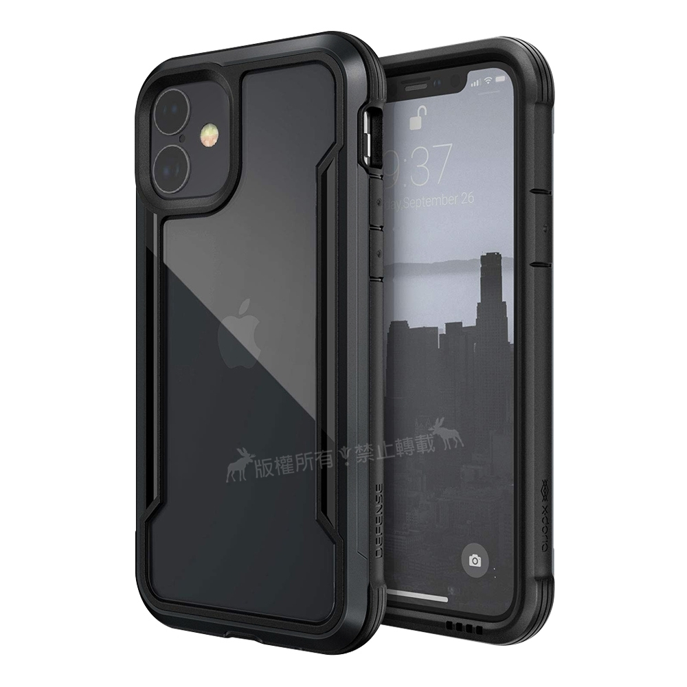 DEFENSE 刀鋒極盾Ⅲ iPhone 11 6.1吋 耐撞擊防摔手機殼(爵帝黑)