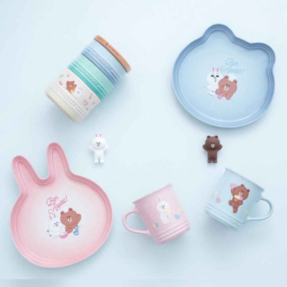 LE CREUSET x LINE FRIENDS 瓷器兔兔造型盤 (淡粉紅)