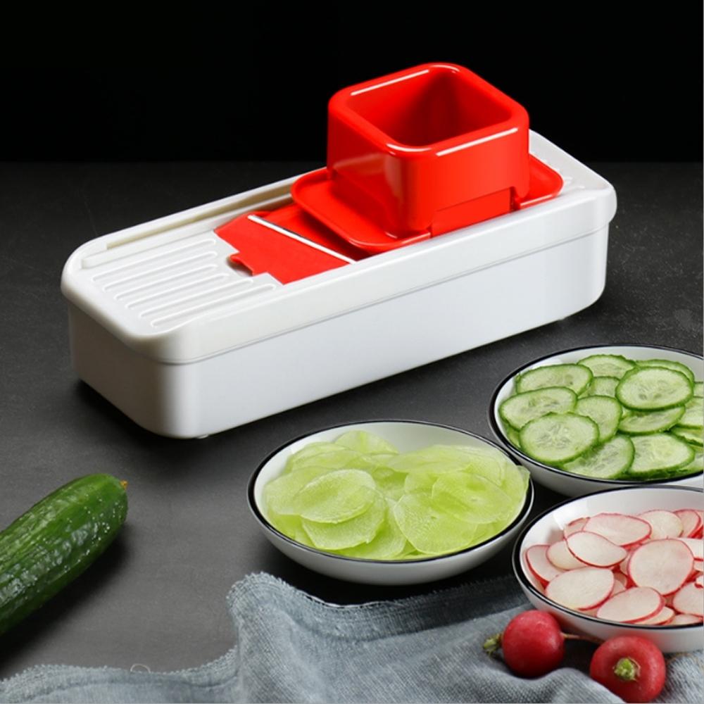 PUSH!廚房用品多功能切菜器蒜片薑片切片器迷你小型切菜神器D202