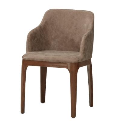 MUNA 巴倫皮餐椅(五金腳)(4入)共兩色 47.5X56X78cm