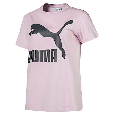 PUMA-女性流行系列No.1 Logo短袖T恤-活力粉紫-亞規