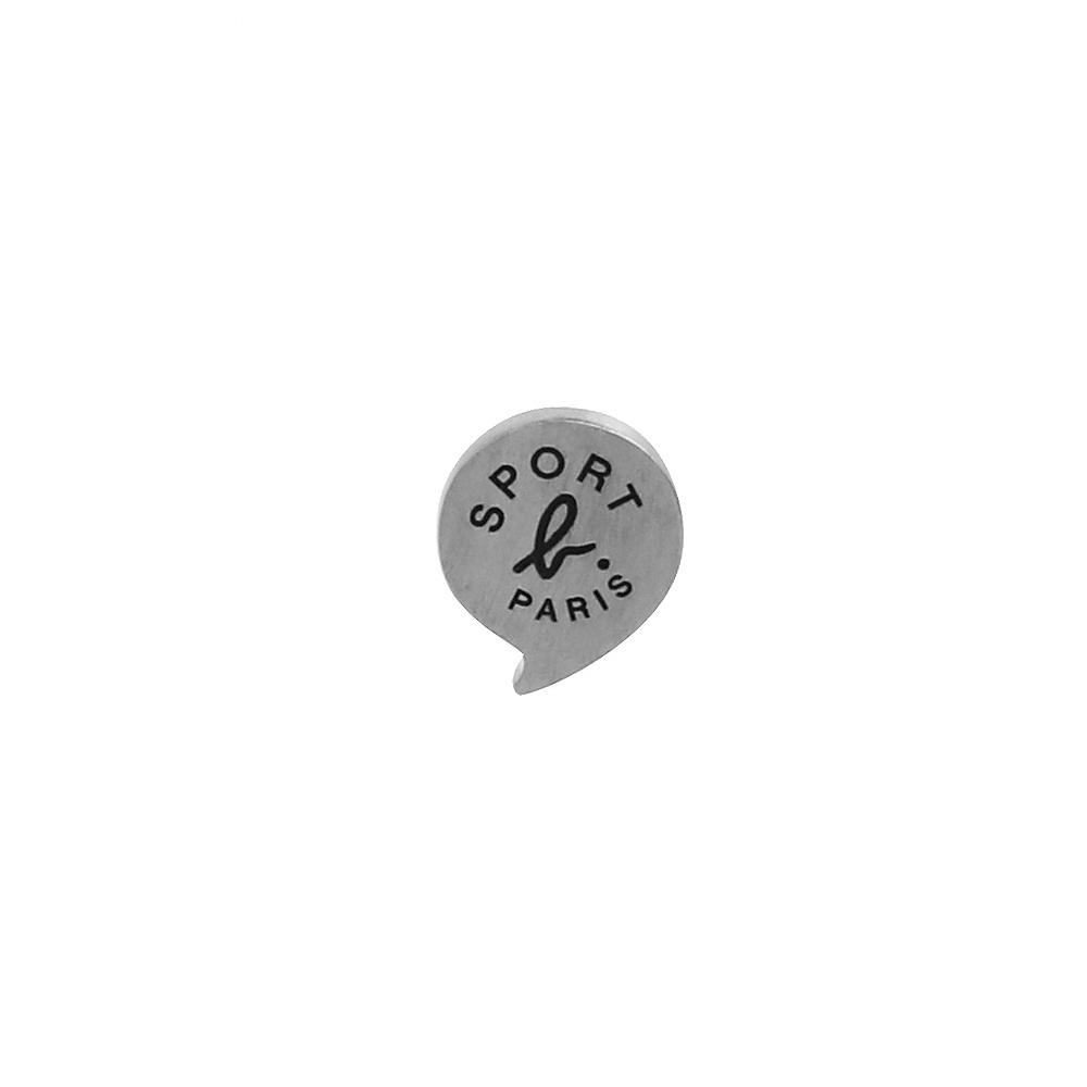 agnes b. - Sport b. logo貼耳式耳環(中性/銀)(單耳)