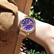 ALBA 跳色潮流 霓虹元素 日期 米蘭編織不鏽鋼手錶-紫x鍍玫瑰金/36mm product thumbnail 1