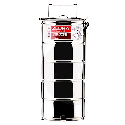 ZEBRA斑馬304不鏽鋼5層便當盒16cm