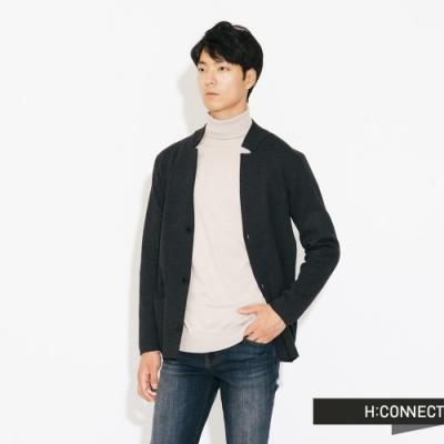 H:CONNECT 韓國品牌 男裝-質感俐落針織外套-灰