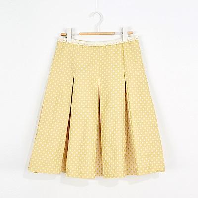 ICHE 衣哲 OL百搭點點打摺及膝裙