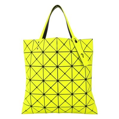ISSEY MIYAKE 三宅一生 BAOBAO 斜紋三角方格6x6透光手提包-黃