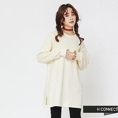 H:CONNECT 韓國品牌 女裝-後印字舒適感上衣-白