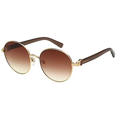 LONGCHAMP 圓框 太陽眼鏡 (金色)LO108