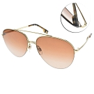 BURBERRY太陽眼鏡 經典雙槓飛官款/金-漸層棕 # B3113 110913