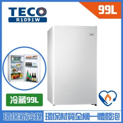 TECO東元 99L 一級定頻單門電冰箱 R1091W
