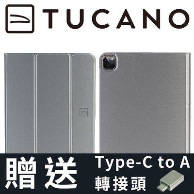 義大利 TUCANO Link iPad Pro 11吋 (2021/3代) 專用金屬質感抗摔保護殼 - 太空灰
