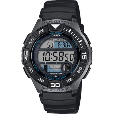 CASIO 卡西歐 海洋運動系列手錶-黑(WS-1100H-1A)