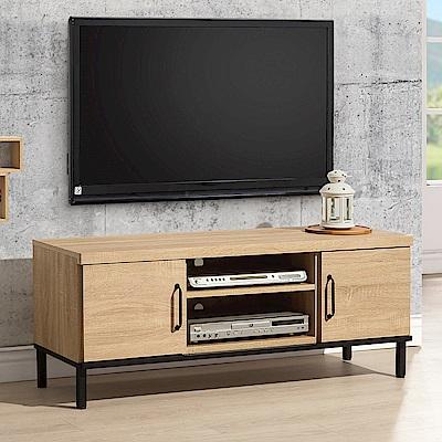 時尚屋  波頓4尺電視櫃 寬121x深40x高49cm