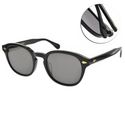 NINE ACCORD 太陽眼鏡 方框款 / 黑-灰鏡片 #HORN LIME C1