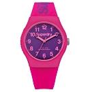 Superdry極度乾燥 Urban系列個性搖擺運動腕錶-桃粉X紫