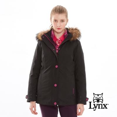 【Lynx Golf】女款防風防水透氣保暖Gore-Tex兩件式長袖外套-黑色