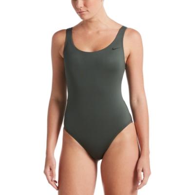 NIKE U-Back成人女性連身泳裝 墨綠 NESSA223-303