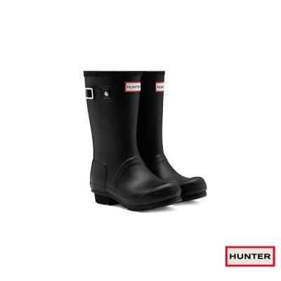 HUNTER - 童鞋 - Original大童低跟霧面短靴 - 黑