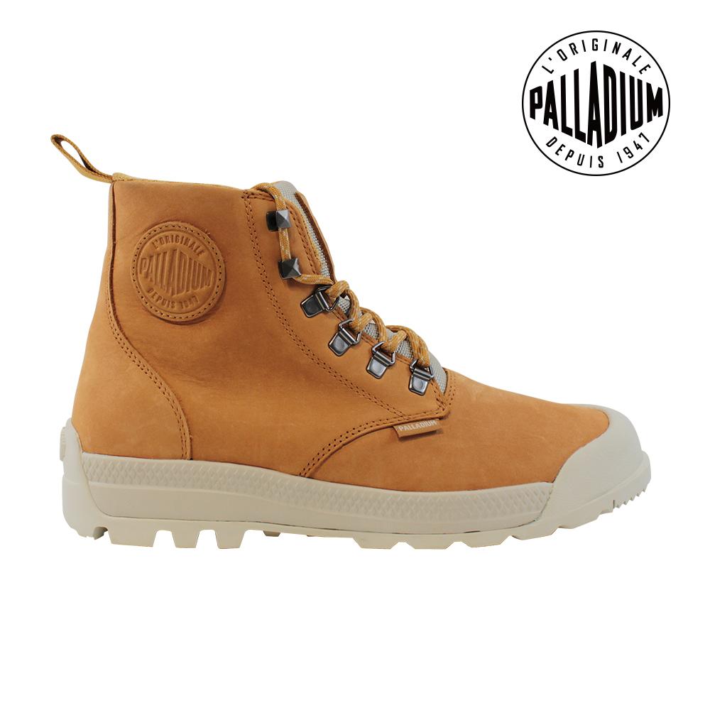 Palladium PAMPATECH HI LEA WP防水靴-女-黃/白