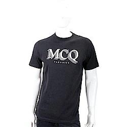 MCQ Paradise 天堂標誌黑色棉質短袖T恤(男/女可穿)