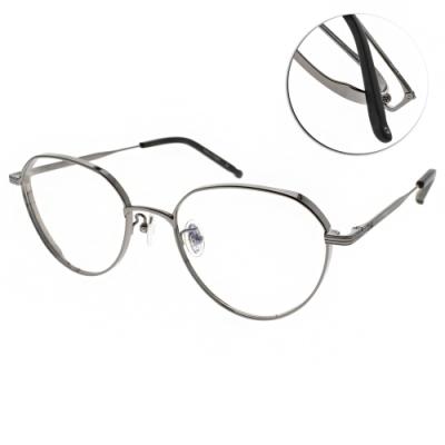 NINE ACCORD光學眼鏡  韓系率性造型款/槍灰-霧黑 #TI RISA C3