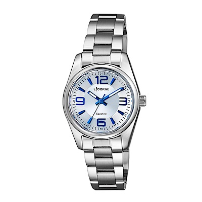 LICORNE 力抗錶 都會款 簡約風格手錶 白×藍×銀/29mm