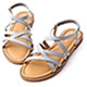 D+AF 繽紛新作.交叉線條軟Q底涼鞋*藍 product thumbnail 1