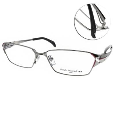 Masaki Matsushima眼鏡 日系鋼鐵科幻款/銀金-黑 #MMF1229 C02
