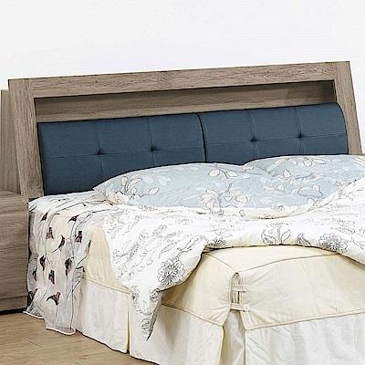 文創集 柏格5尺貓抓皮革雙人床頭箱(二色+不含床底)-153x29x101cm免組